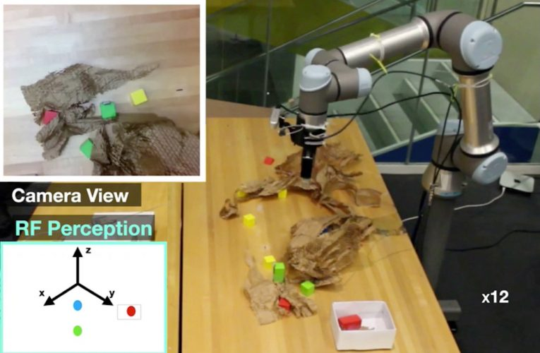 Radio frequency perception helps robot grasp hidden objects