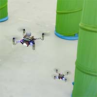 Helping drone swarms avoid obstacles without hitting each other (w/video)